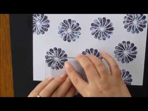 Tie dye ink effect: How to make your own designer series paper