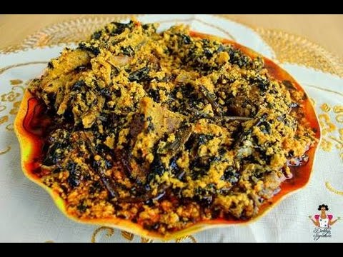 how to prepare egusi soup/ Nigeria food/ Nigeria s