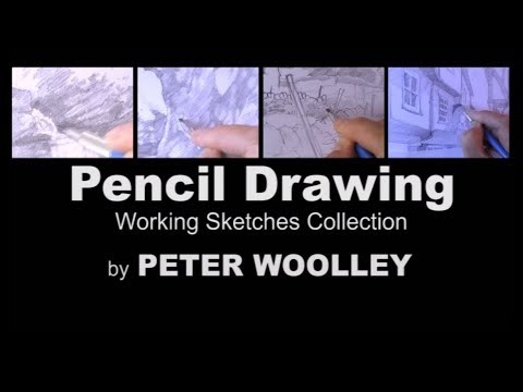 Pencil Drawing 4: The Sketches Collection by PETER WOOLLEY