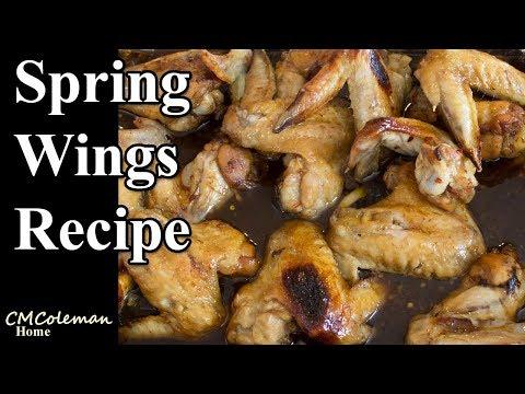 Homemade Spring Chicken Wings Recipe