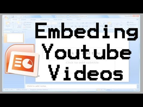 How To Embed YouTube Videos In PowerPoint 2007