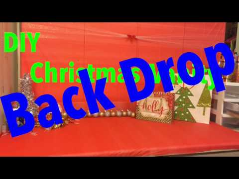 DIY 10$ Christmas backdrop