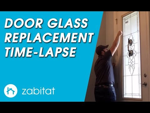Door Glass Replacement Installation Time-Lapse
