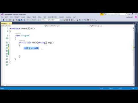 C# Beginner to advanced - Lesson 68 - Nullable Types