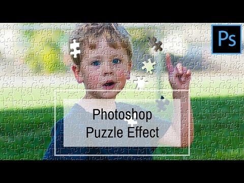 Jigsaw Puzzle Effect in Photoshop - Turn a photo into a faux jigsaw puzzle