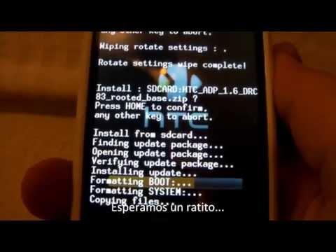 Tutorial Nº 3 - Como instalar / cambiar la ROM a nuestras HTC Magic