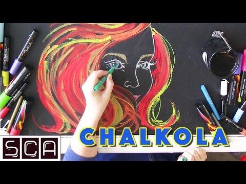 Chalkboard Coffee Table Fun! Chalkola Paint Markers - REVIEW & DEMO