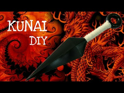 How to make a Paper Ninja Kunai Knife | Naruto Ninja Weapons