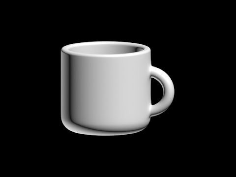 3DS Max 2016 Coffee Cup Tutorial Beginner