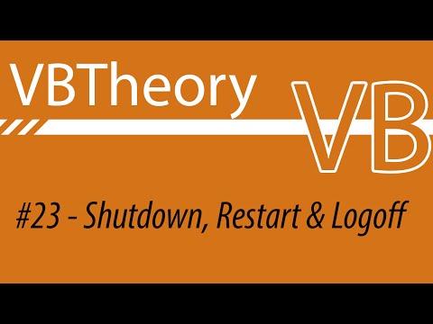 How to shutdown, restart or logoff -  VB#23
