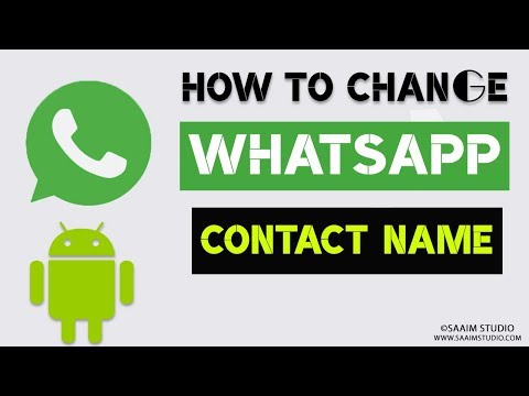 How to Change contacts name in WhatsApp?