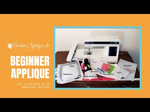 How to Applique on an Embroidery Machine: Beginner Applique