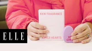 Blindfolded Kim Kardashian KKW Kimoji Fragrance Review   To The Test   ELLE