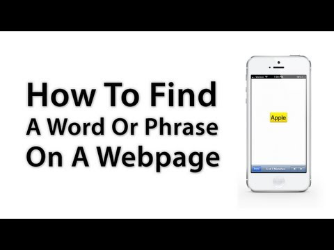[iOS Advice] How To Search For A Word Or Phrase In Safari