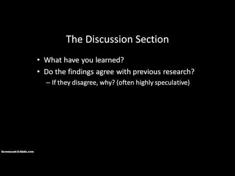 APA style - Writing the Results and Discussion sections
