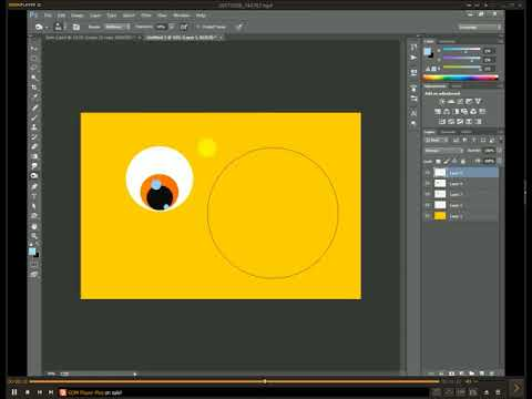 How to make Cute Cartoon eye By basic Photoshop  ( SK S EDITION )