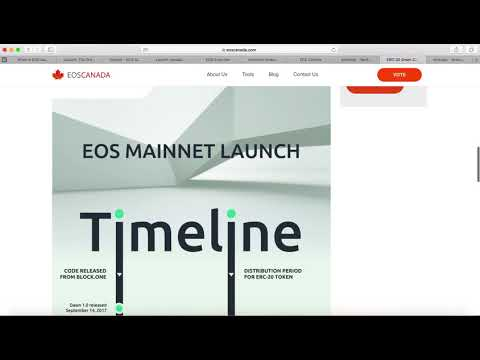 EOS Mainnet launch Timeline | $EOS Airdrop | EOS Canada Block Producers | Meet.one $EOS Wallet