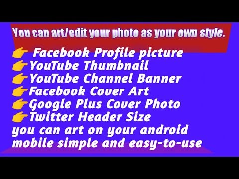 How to edit YouTube channel banner | How to art YouTube Thumbnail |Facebook profile picture editing