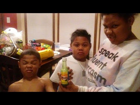 Paying the kids to drink Chile Habanero Hot Sauce