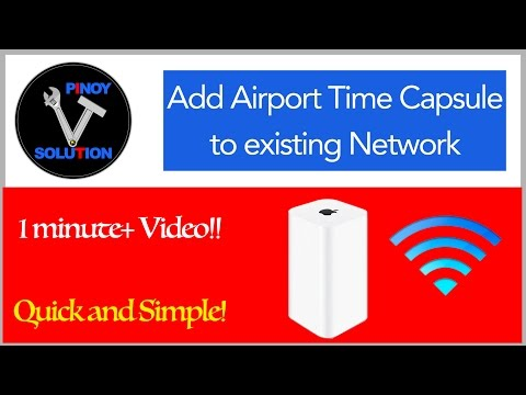 How to Add Airport Time Capsule to Existing Network on OSX 10.9 Mavericks