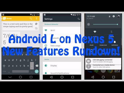 Android L 5.0 on Nexus 5: New Features Rundown!