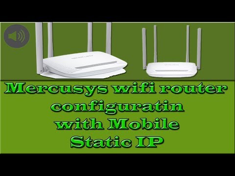 Mercusys wifi router configuration via Mobile Static IP