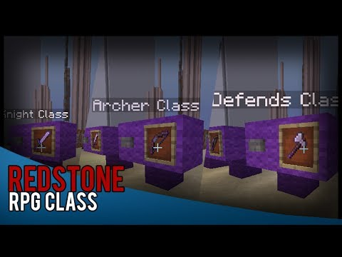 Minecraft Redstone: RPG Class
