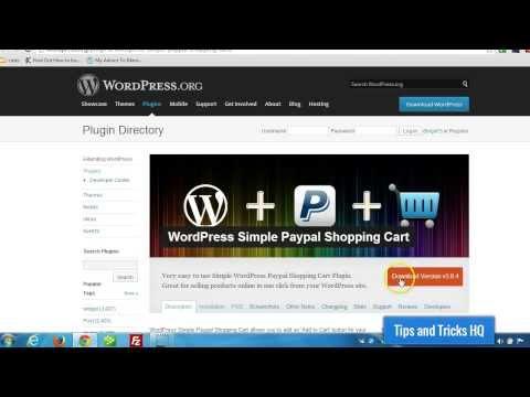 WordPress Simple Shopping Cart Usage