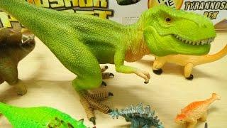 Dinosaur Toys Collection for Kids T Rex Velociraptor Spinosaurus Triceratops