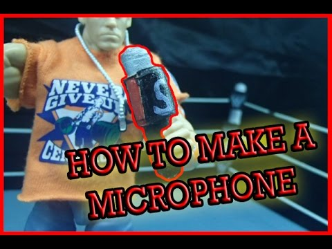 How To Make A MICROPHONE For WWE Figures