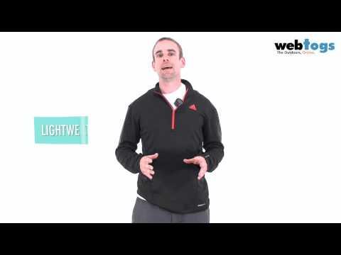 Adidas Men's Terrex 1/2 Zip Long Sleeve - Lightweight warm fleece layer