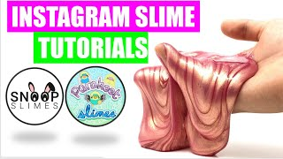 FAMOUS INSTAGRAM SLIME Recipes And Tutorials {How To Make Snoop Slimes, and Parakeet Slime & MORE!!}