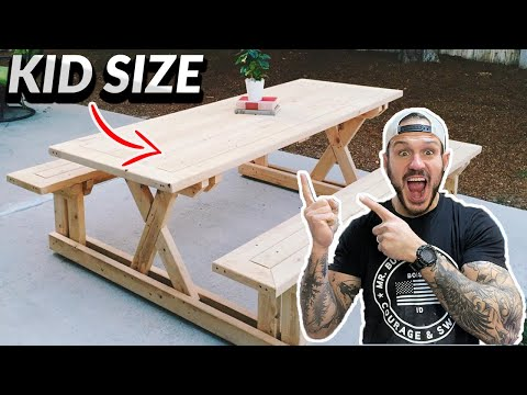 MINI MODERN PICNIC TABLE | For Kids