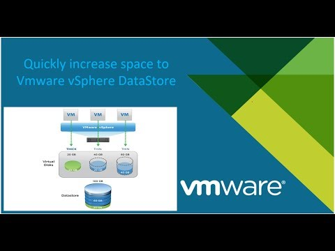 Quickly Increase Space DataStore VMware vSphere