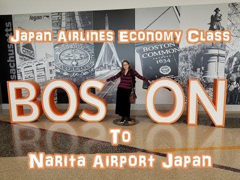 Japan Airlines Flight Economy Class: Boston to Narita Airport Japan