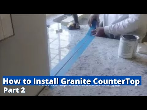How to Install Granite CounterTop -  Part 2 - Installing New Counter Tops  and Sink