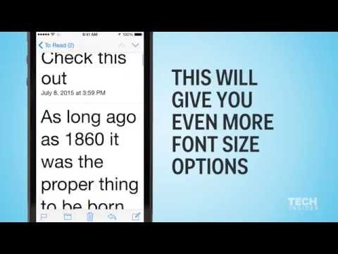 How to make text larger on your iPhone