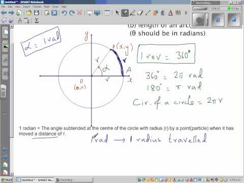 How 360 degrees is equal to 2 pi radians