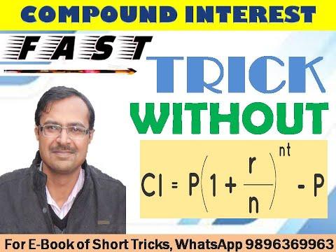 Trick 124 - Find COMPOUND INTEREST WITHOUT FORMULA