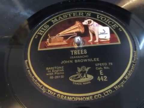 Trees - Joyce Kilmer - Poem - John Brownlee - Baritone - 78 rpm - HMV 102