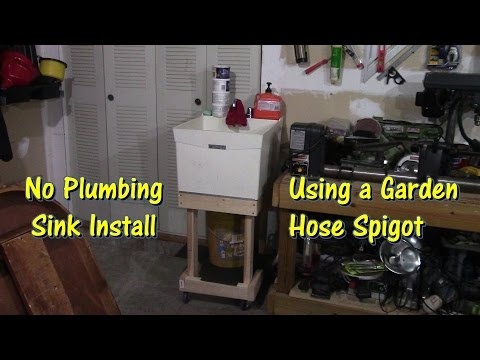How to Install a Sink in Your Garage by @GettinJunkDone