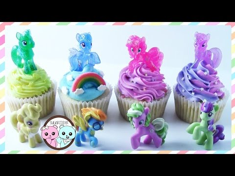 MY LITTLE PONY CUPCAKES, MY LITTLE PONY CAKE - BY SUGARCODER