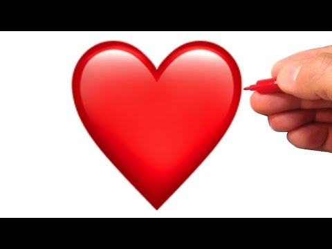 How to Draw the Red Heart Emoji