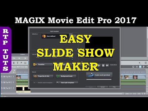 Magix Video Slideshow Maker Tutorial. Add Music, Captions, Titles in Magix Movie Edit Pro