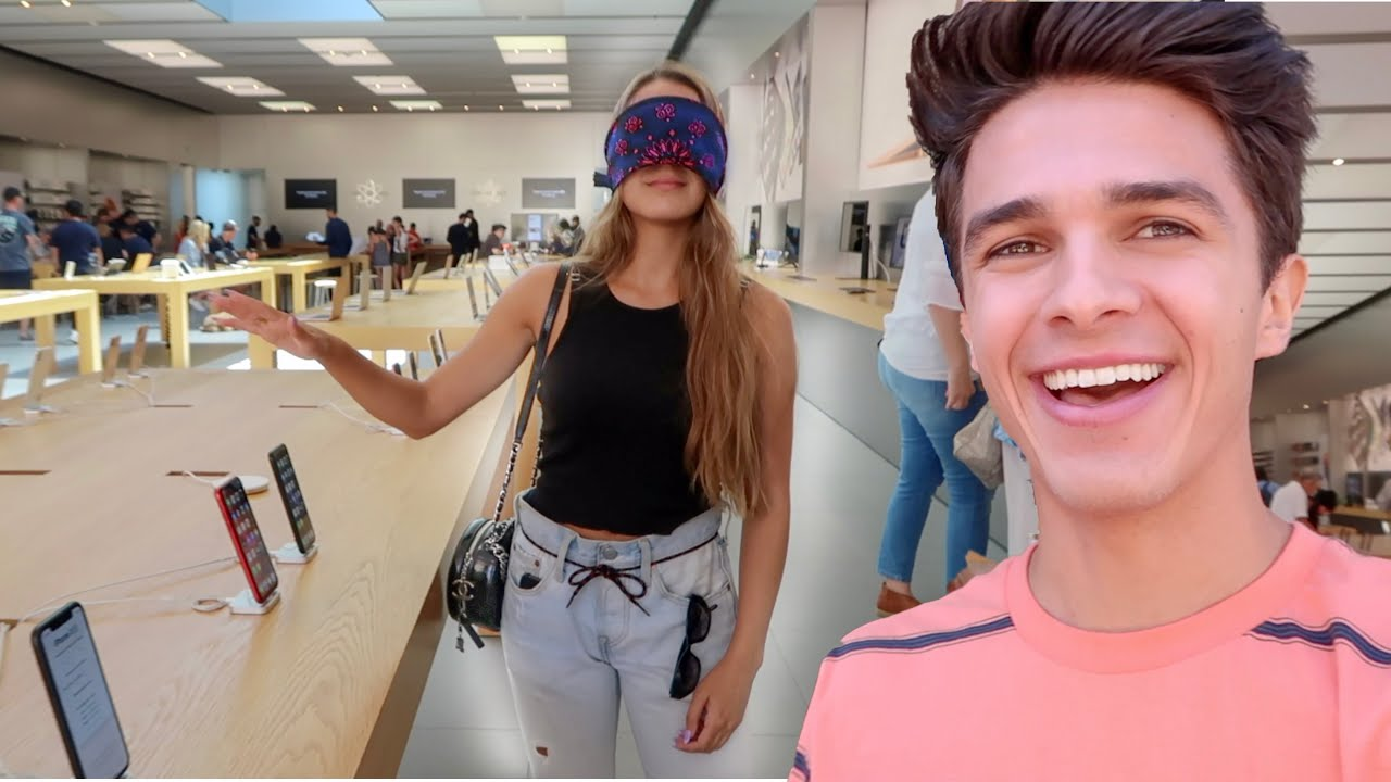 Buying EVERYTHING My Sister Touches Blindfolded!   Brent Rivera