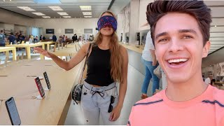 Buying EVERYTHING My Sister Touches Blindfolded! | Brent Rivera