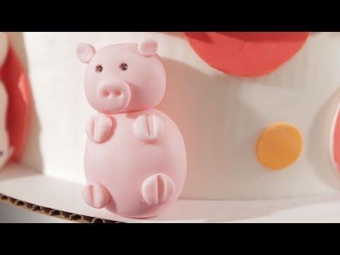 How to Make a Fondant Pig | Cake Fondant