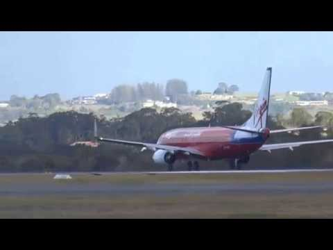 Virgin Australia taking off at the Gold Coast airport