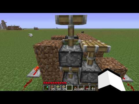 Minecraft - How to make a piston elevator part 2 the hard way