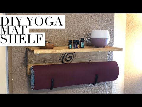 How to build a yoga mat shelf! Or backpack rack, whatever.